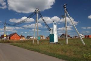 Ввод электрокабеля в дом
